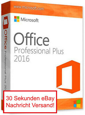Microsoft Office 2016 Pro Plus Professional 32/64 Bit Download E-Mail Deutsch