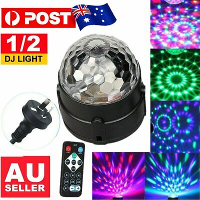 Disco Party DJ LED RGB Stage Effect Light Laser Crystal Magic Ball Lamp+ Remote