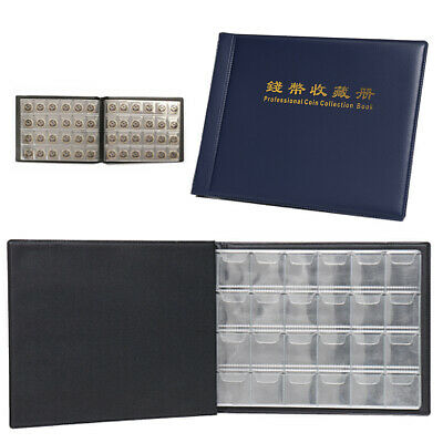 240 Coin Pocket Album 10 Page Storage Holders Coin Collecting Binder Folder Book
