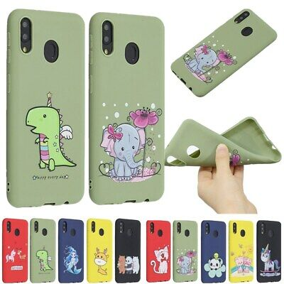 Cute Rubber Soft Silicone Pattern  Case Cover For Samsung Galaxy S10 S9 Plus S8+
