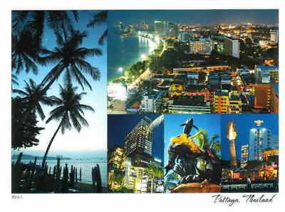 Color Postcard of Pattaya City in Thailand with Free Shipping