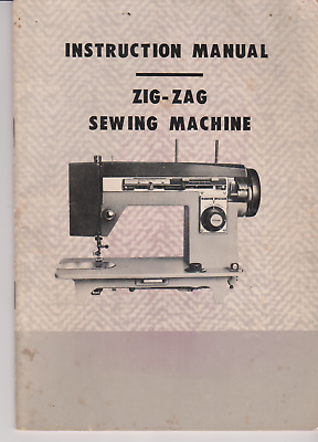Vintage instruction manual for Zig-Zag sewing machine.