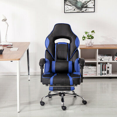Luxury Executive Racing Gaming Chair Office PU Faux Leather Swivel Computer Desk