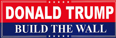 """(5 Pack) Trump 2020 """"Build The Wall"""" Decal Bumper Sticker"""