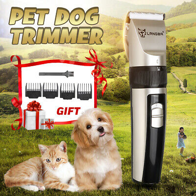 Rechargeable Cat Dog Grooming Trimmer Clipper Set Cordless Pet USB Hair Shaver