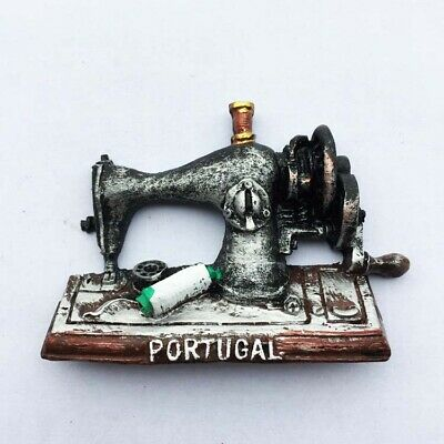 Portugal Souvenirs Retro Hand-cranked Sewing Machine Fridge Magnets Resin Magnet
