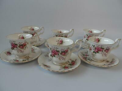 Royal Albert Lavender Rose 6 X Coffee Cups And Saucers