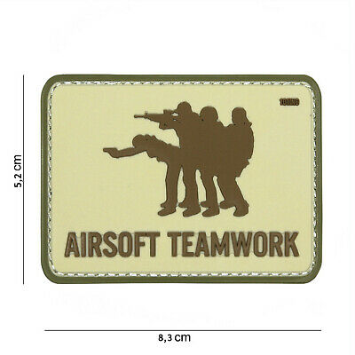 Airsoft Teamwork coyote #16055 Patch Klett Airsoft Paintball Tactical
