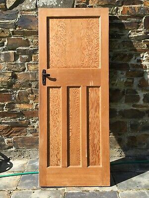 1930's Reclaimed Internal Doors. One Over Three Panels  Pine Doors. 5 Available.