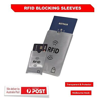 RFID Blocking Sleeve Secure Credit Debit Card ID Passport Protector Anti Scan AU