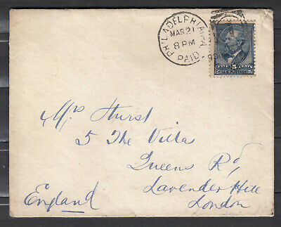 USA Scott #216 Cover March 21st, 1890 Philadelphia to London *
