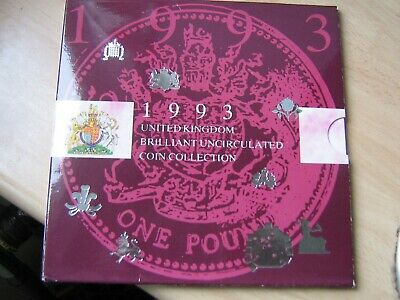 UK British 1993 Coin Collection Set inc RARE 92/93 EEC 50p BUNC
