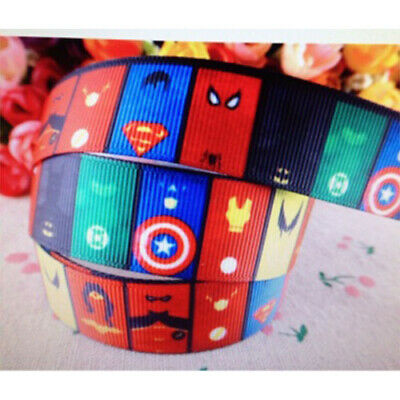 Marvel Avengers DC All Super Hero Cake Ribbon Gift Wrap Captain America 2M X 2MM