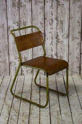 Vintage Industrial Stacking Ply Mid Century Cafe Kitchen Chair (23 Available)