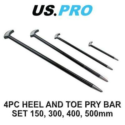 US PRO Tools 4pc Heel Bar Set Podgers Pry Bars Toe 150, 300, 400, 500mm 6857
