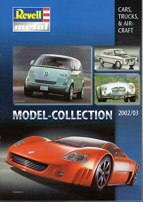 Magazine Catalogue Revell Metal Model Collection 2002/2003 Car & Trucks 27 Pages
