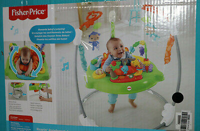 Fisher-Price CHM91 Jumperoo Baby Hopser inkl. 12 Spielzeugen