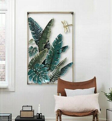 3D Iron Tropical Plant Wall Decoration
