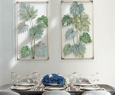3D Iron Wrought Tropical Plant Wall Decoration