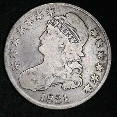 1831 Capped Bust Half Dollar CHOICE FINE FREE SHIPPING E414 AET