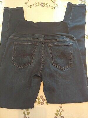 3486ad09b9eb3 Ag Adriano Goldschmied Maternity Jeans P Collection Sz 31 R Dark Slim Fit