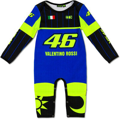 Valentino Rossi Vr46 Replica Baby Grow New Size 12 Months