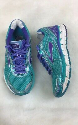 best sneakers 58a92 21e04 Brooks Womens Adrenaline GTS 15 Size 6.5 Running Shoes Green Purple Silver