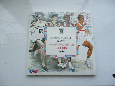 Commonwealth Games Commorative Two Pound Coin, 1986 with original packaging
