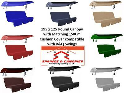 Springs /& Canopies Garden Swing replacement cushion cover various 150 x 50 x 50 x 10, Black