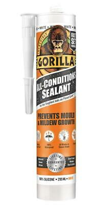 All Conditions Silicone Sealant, White 295ml - GORILLA