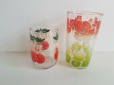 Swanky Swigs Vintage Tumbler Drinking Glass Cup and Cherry Glass