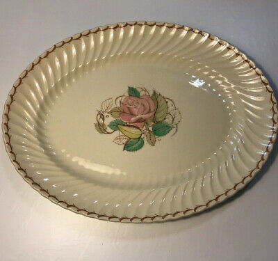 Susie Cooper Patricia Spiral Rose England Small Serving Platter Swirl 12 1/2""