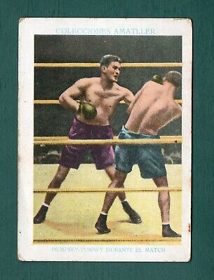 GENE TUNNEY 1928 Chocolate Amatller Spain Boxing Card - $43 99