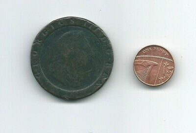 1797 George III TwoPence coin