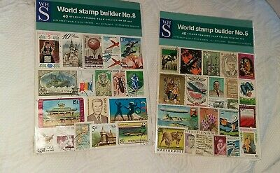 Wh Smith World Stamp Builder Packs No.5 & 8