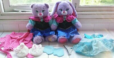 2 Buildabear soft toys. Princess Anna & Frozen Anna Bunny with clothes & shoes