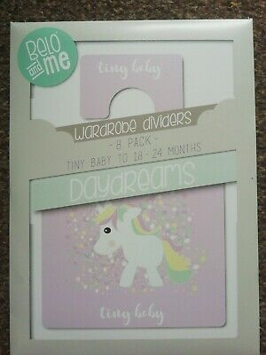 Belo And Me Baby Wardrobe Dividers - Daydreams - Tiny Baby To 24 Months - 8 pack