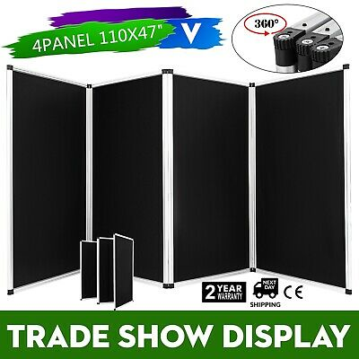 110 X 47 Folding 4 Panels Trade Show Display Booth Portable Backdrop Stand