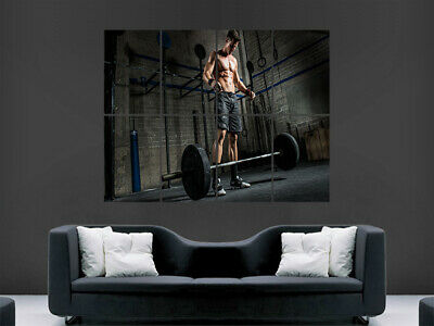 Gym Workout Bodybuilder Poster Man Wall Abs Fitness Art Picture Print Large