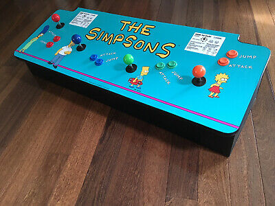 The Simpsons Control Panel Four Player Konami Replica Arcade multiple games