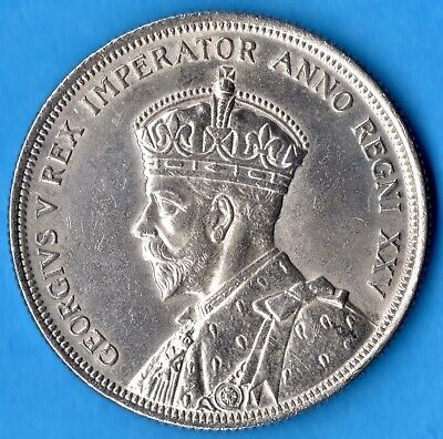 Canada 1935 $1 One Dollar Silver Coin - First Year - EF+ (cleaned)