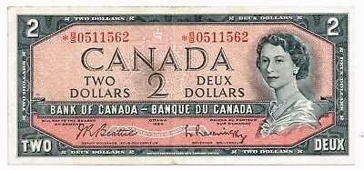 1954 (1961-71) CANADA TWO DOLLARS REPLACEMENT NOTE - p76b
