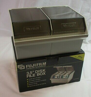 "Vintage Fuji Film 3.5"" Disk File Storage Box 