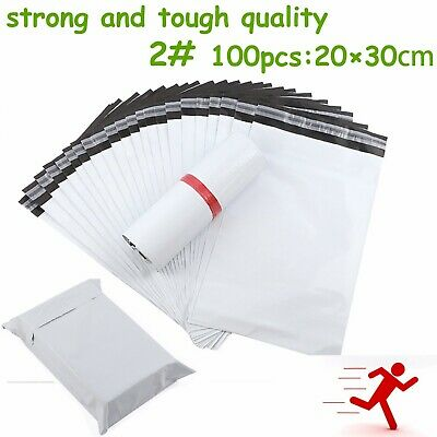 2#100pcs Poly Mailer Courier Self Sealing Shipping Bag Plastic Satchel Recycable