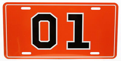 Dukes of Hazzard General Lee License Plate 01 Sublimated Retro 80s TV