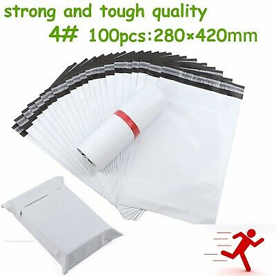 4#100pcs Poly Mailer Courier Self Sealing Shipping Bag Plastic Satchel Recycable