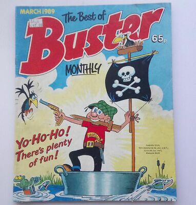 The Best of Buster Monthly March 1989 Collectable Childrens Kids Comic Fine UK