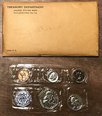 PROOF SET 1956 U.S Mint Sealed in a flat cello. The Coins are U.S