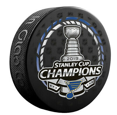 2019 ST LOUIS BLUES Stanley Cup Champions NHL Official Hockey Logo Puck - CHAMP