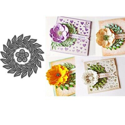 Flower Wreath Metal Cutting Dies Scrapbook Paper Cards Album Craft Stencil NEW